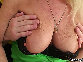 blonde porn - Blonde old granny rides young dick