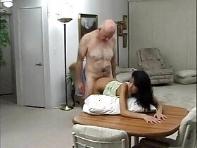 anal porn - Sexy latina fucked by an old man