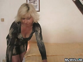 blonde porn - Blonde mother in law seduces me into sex
