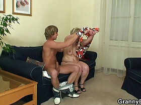 banged porn - Young stud bangs 60 years old woman