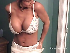lingerie porn - Mature sexy white lingerie get strp and shower