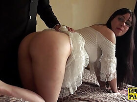 bdsm porn - British bdsm sub whipped and spanked