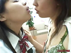 asian porn - Asian Schoolgirls Kissing Licking Sucking Nipples Teasing Clit Licking Hairy