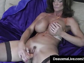 cougar porn - Hot Blooded Cougar Deauxma Dildo Fucks Her Pussy Squirts!