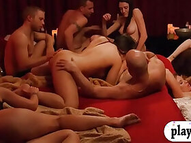 couple porn - Bunch of newly couples enjoyed swinging and erotic orgy