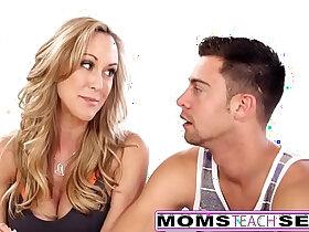 flexible porn - MomsTeachSex Hot Yoga Mom Fucks Son And Teen GF