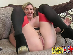 british porn - FakeAgentUK Brit girl gets spanked, fingered and fucked on casting couch