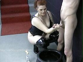 cum porn - Looks like this mistress wants a jar full of cum