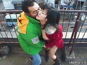 babe porn - Lovely Japanese babe sucks hard long dick outdoors