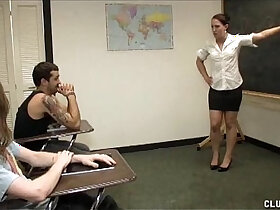 classroom porn - Punishment Handjob In The Classroom
