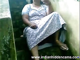 busty porn - Indian Housewife Exposing Her Pussy Sitting Outside Her House
