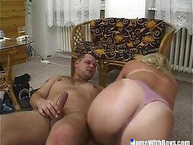 blonde porn - Blonde Mature Bombshell Suck And Fucks Cock