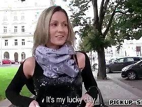 big boobs porn - Hot Euro slut Blanka Grain with big boobs drilled for some money
