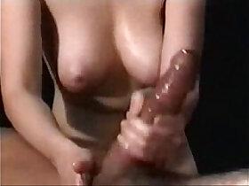 beautiful porn - Oily massage and wet handjob