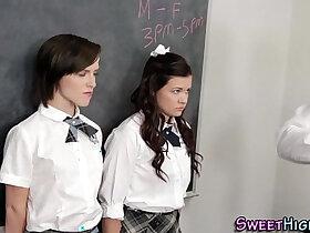 high school porn - Highschool teens spunked