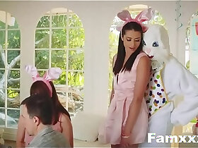 teen porn - Hot Teen Fucked By Easter Bunny uncle