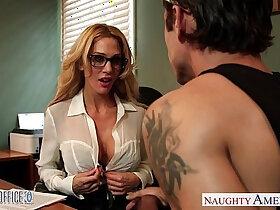 ass fucking porn - Tattooed blondie Sarah Jessie fuck in the office