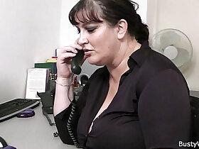 blowjob porn - Fat secretary blowjob and office fuck