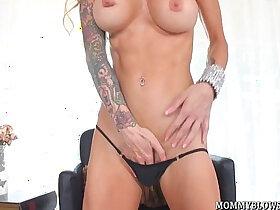 cock porn - Tattooed Milf Sarah Jessie Shows Cocksucking Skill