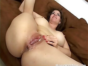 cock porn - Mature Mother Huge round Tits sucks and Fucks Cock