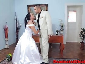 bride porn - Chubby bride tormented after wedding