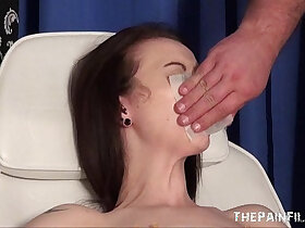 extreme porn - Emilys extreme needle and gagged medical piercing pussy pain of uk slave