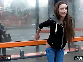 british porn - British skinny Leyla flashing in London