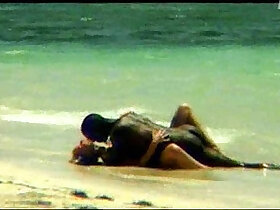 beach porn - Monika Sweet interracial sex on the beach SOFTCORE