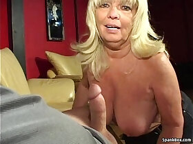 amateur porn - Busty amateur blonde gives head while smoking