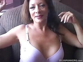 enjoying porn - Super sexy old spunker enjoys a smoke break and a nice little wank