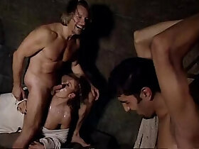 abuse porn - Woman abused in cell by jailer in front of her tied up husband