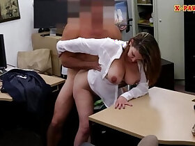 boobs porn - Foxy huge natural boobs business lady screwed up for money