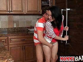 boobs porn - Huge natural boobs milf Kendra Lust caught teen couple pounding