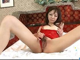 extreme porn - Extreme solo masturbation with milf in lingerie Hikaru Aoyama