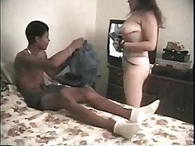 19 year old porn - 19 yo HOT college girl sucks and fucks black dude HARD on cam interracial tape VickyS